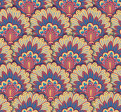 Seamless ethnic pattern with floral motives. Mandala stylized print template for fabric and paper. Boho chic design Stock Photos