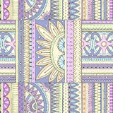 Seamless ethnic pattern with geometric elements. Stock Images