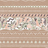 Seamless ethnic pattern. Geometric and floral shapes. Vector. Seamless ethnic pattern. Geometric and floral shapes. Vector handmade Royalty Free Stock Image