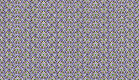 Seamless ethnic pattern with geometric flowers. In violate Stock Images