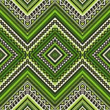 Seamless ethnic pattern with geometric ornament royalty free illustration