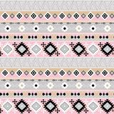 Seamless ethnic pattern, gray, pink background. Colorful background Royalty Free Stock Photos