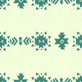 Seamless ethnic pattern. Seamless hand drawn aztec pattern, vector illustration Stock Photos