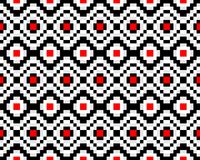 Seamless ethnic pattern. Hipster background is black, red and white. Trendy seamless ethnic pattern. Hipster background is black, red and white Royalty Free Stock Image