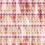 Seamless ethnic pattern. Horizontal striped colorful Aztec background Royalty Free Stock Photos