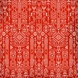 Seamless ethnic pattern. With native american motifs, vector Royalty Free Stock Images