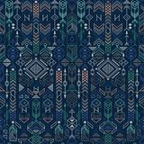 Seamless ethnic pattern. With native american motifs, vector Royalty Free Stock Photos
