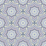 Seamless ethnic pattern of round ornaments. Stock Photo