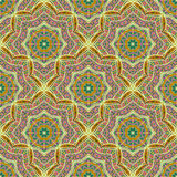 Seamless ethnic pattern of round ornaments. Stock Photography