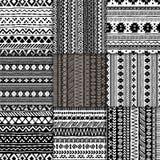 Seamless ethnic pattern set Royalty Free Stock Photography