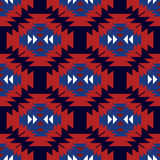 Seamless ethnic pattern. Simple red and blue seamless ethnic pattern Stock Photos