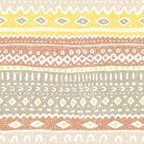 Seamless ethnic pattern. Striped geometric background drawn by h. And stock illustration