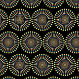 Vector seamless abstract ethnic pattern with sunbursts Royalty Free Stock Photo