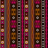 Seamless ethnic pattern texture turquoise, brown, red ,orange on bright background. Royalty Free Stock Photos