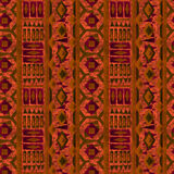 Seamless ethnic pattern texture turquoise, green, red ,orange on bright background. Stock Image