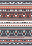 Seamless Ethnic pattern textures.  Abstract Navajo geometric print. Gray and orange colors Stock Image