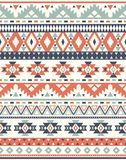 Seamless Ethnic pattern textures.  Abstract Navajo geometric print. Gray and orange colors Stock Photo
