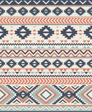 Seamless Ethnic pattern textures.  Abstract Navajo geometric print. Gray and orange colors Royalty Free Stock Photography