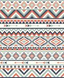 Seamless Ethnic pattern textures.  Abstract Navajo geometric print. Gray and orange colors Stock Photos