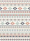 Seamless Ethnic pattern textures.  Abstract Navajo geometric print. Gray and orange colors Royalty Free Stock Image