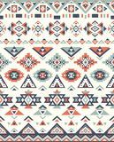 Seamless Ethnic pattern textures. Native American pattern. Gray and Orange colors Royalty Free Stock Photos