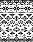 Seamless Ethnic pattern textures. Black & white colors. Navajo geometric print. Rustic decorative ornament. Abstract geometric pattern. Native American pattern Vector Illustration