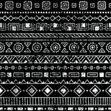 Seamless ethnic pattern. Tribal and aztec motifs. Grunge texture Royalty Free Stock Images