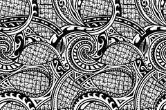 Seamless ethnic pattern. Tribal pattern in ethnic Maori style. Can be used as seamless ornament Royalty Free Stock Image