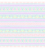 Seamless ethnic pattern. Tribal motifs. Gradient. Pink and mint colors Stock Images