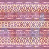 Seamless ethnic pattern. Tribal motifs. Watercolor texture. Drawing by hand Stock Image
