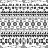 Seamless ethnic pattern. Tribal-vector illustration. The art of the Aztec, Mexican and Peruvian print Royalty Free Stock Photos