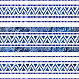 Seamless ethnic pattern. Vector illustration. The blue and white Royalty Free Stock Image