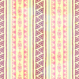 Seamless ethnic pattern. Vector illustration. Pastel colors. Pink and purple. Watercolor texture Royalty Free Stock Photo