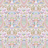 Seamless ethnic pattern . Vector pastel  background. Traditional etno ornament with decorative elements Stock Photos
