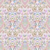 Seamless ethnic pattern . Vector pastel  background. Stock Photos