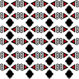 Seamless ethnic pattern vector traditional tribal geometric ornaments black red and white background design retro vintage bohemian. Style art oriental Royalty Free Stock Photos