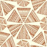 Seamless ethnic pattern. Vector tribal background. Stock Images