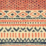 Seamless ethnic pattern. Vintage print for carpet. Grunge old te. Xture vector illustration