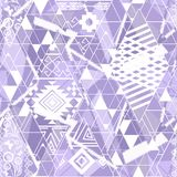 Seamless ethnic pattern. White ornament on purple background. Gentle seamless ethnic pattern. White ornament on purple background vector illustration