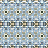 Seamless ethnic patterns. For border. Repeated oriental frieze motif for fabric or paper design Royalty Free Stock Image