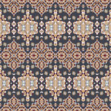 Seamless ethnic patterns. For border. Repeated oriental frieze motif for fabric or paper design Stock Photos
