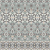 Seamless ethnic patterns. For border. Repeated oriental frieze motif for fabric or paper design Royalty Free Stock Images