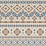 Seamless ethnic patterns. For border. Repeated oriental frieze motif for fabric or paper design Stock Images