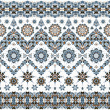 Seamless ethnic patterns. For border. Repeated oriental frieze motif for fabric or paper design Stock Photo