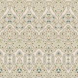 Seamless ethnic patterns for border. Repeated oriental motif for fabric or paper design. Colored frieze in Arabic style Stock Photo
