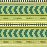 Seamless ethnic patterns with diamonds. Vector Royalty Free Stock Images