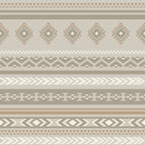Seamless ethnic striped ornamental pattern . Vector background Royalty Free Stock Images