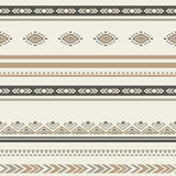 Seamless ethnic striped ornamental pattern . Vector ornated background Royalty Free Stock Images