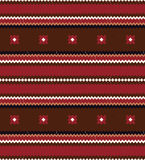 Seamless ethnic stripes pattern Stock Image