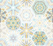 Seamless ethnic textile hexagons pattern. Royalty Free Stock Image